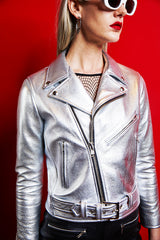 Women's Bowery Jacket (Metallic Silver) MADE-TO-ORDER
