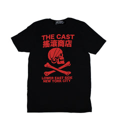 THE CAST T - BLACK W/RED INK