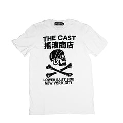 THE CAST T - WHITE/BLACK INK
