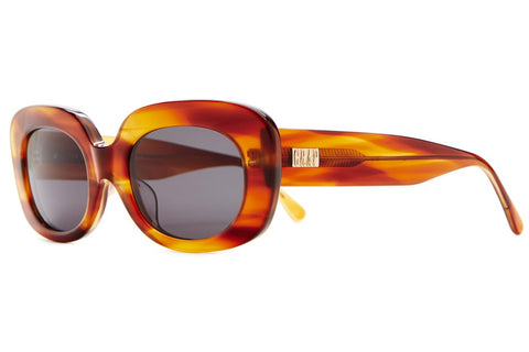 The Velvet Mirror Havana Tortoise Square Sunglasses