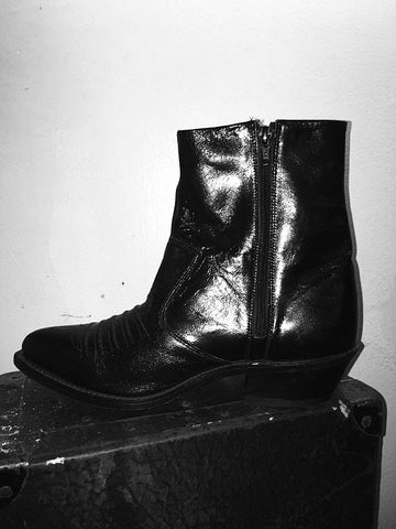 Vintage Ankle Zip Boots (Size 8)