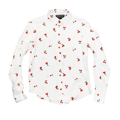 CHERRIES BUTTON–UP - (2 colors)