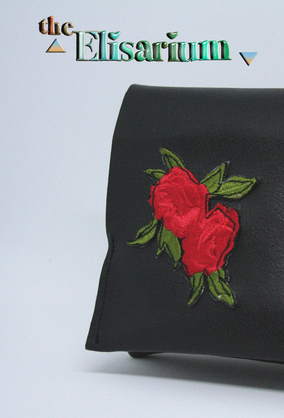 Red & black Roses pouch