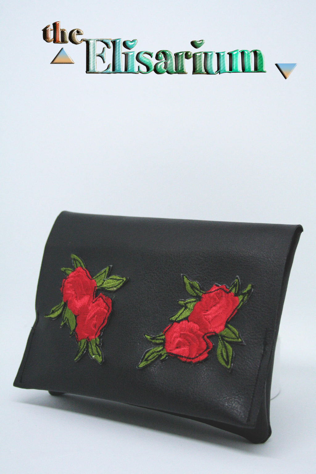 Red & black Roses tobacco pouch