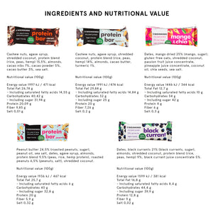 Protein & Energy Bar MIX BUNDLE (box of 20 / 30 x 40g)