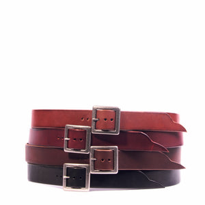 "1.5"" Full Grain Napa Latigo Leather Belt"