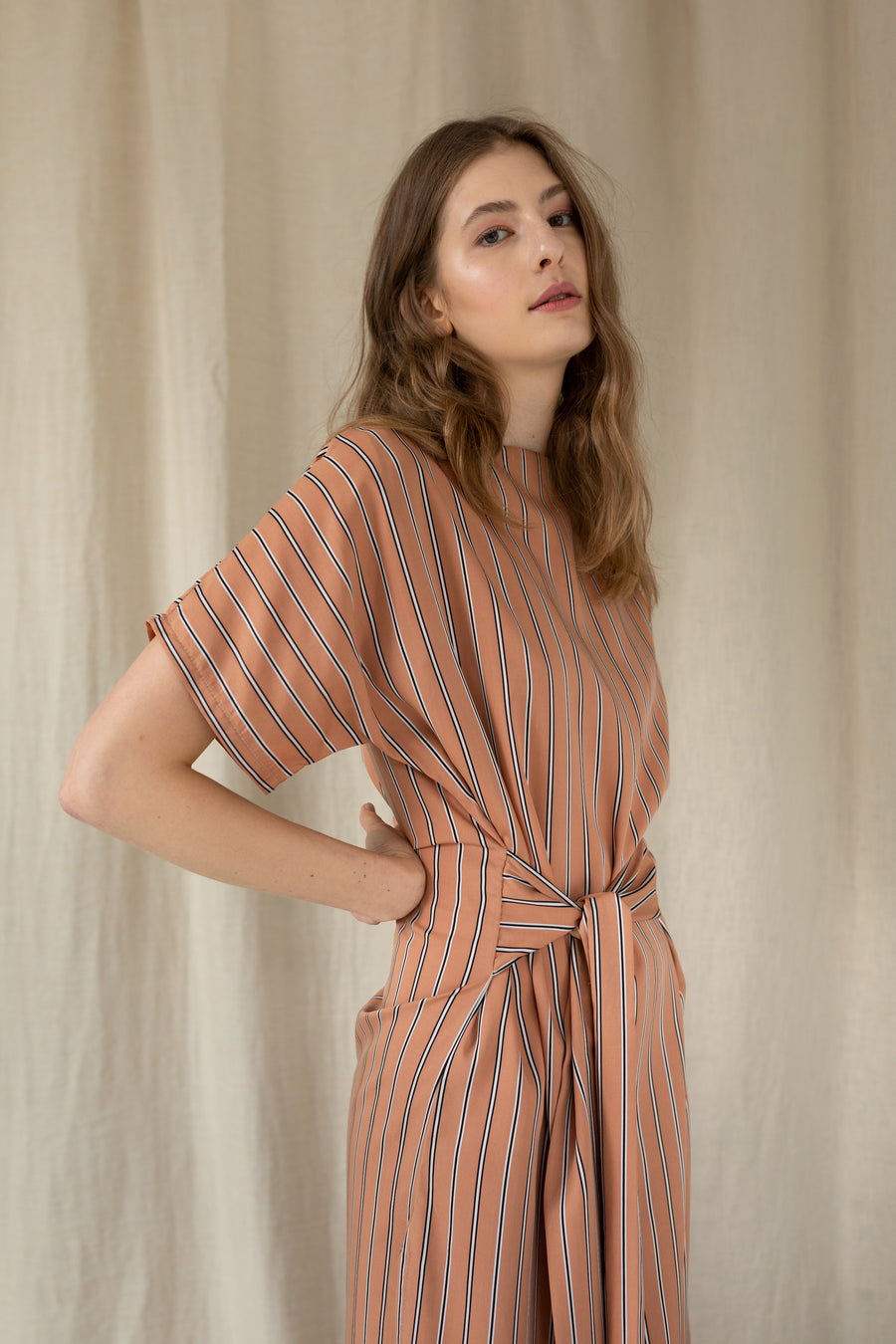Power Wrap-Style Dress