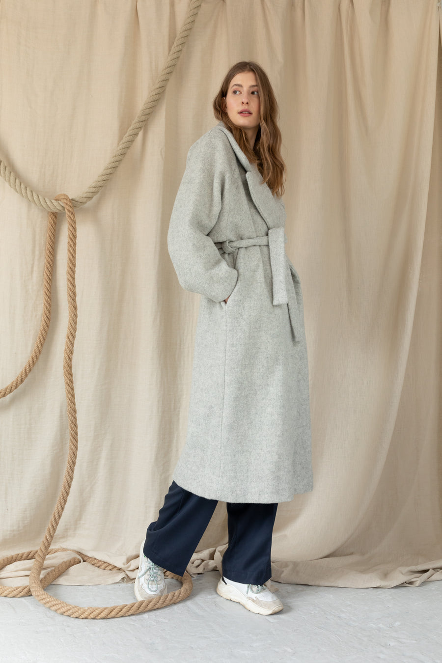 Think Big Oversize Belt Coat