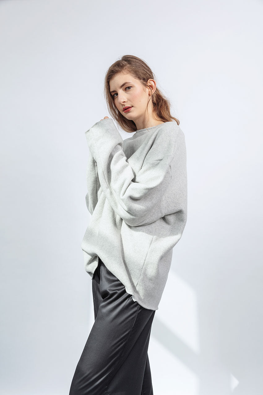 Cotton Fleece Oversized Jumper