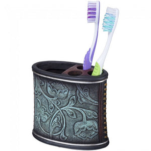 Turquoise Floral Tooth Brush Holder