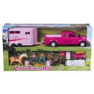 Pink Truck and Small Trailer Set