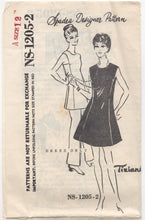 "1960's Spadea One Piece Dress with Square Armholes - Bust 34"" - No. 1205-2"