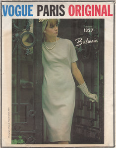 "1960's Vogue Paris Original One Piece Mod Dress with Seam Detail - Bust 31"" - No. 1327"
