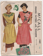 1940's McCall Full Apron with Large Pocket and Transfer - OS - UC/FF - No. 1469