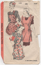 1940's Hollywood Set of 3 Aprons Pattern - Small - No. 1688