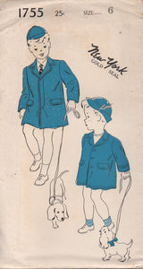 "1940's New York Boy's Fly Front and Button Up Jacket - Chest 24"" - No. 1755"