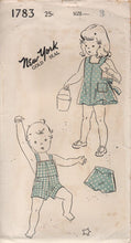 "1940's New York Romper, Playsuit and Bloomers - Chest 22"" - No. 1783"