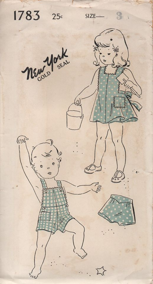 1940's New York Romper, Playsuit and Bloomers - Chest 22