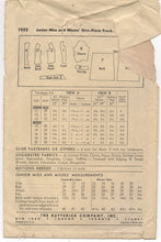 "1940's Butterick One Piece Dress with Drop Waist and Gathered sides - Bust 32"" - No. 1953"