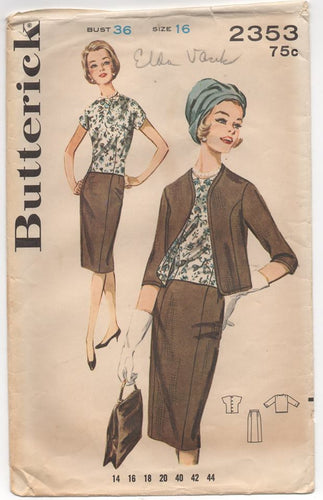 1960's Butterick Three Piece Outfit - Bust 36