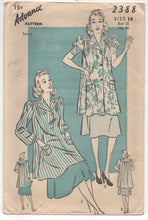 "1930's Advance Smock with Puff short or long sleeves - Bust 32"" - No. 2388"