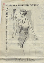 "1960's Spadea One Piece Dress with contrast waist - Bust 34"" - No. 2185"