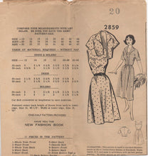 "1950's Mail Order One Piece Dress with Yoke Accent and Bolero - Bust 38"" - No. 2859"