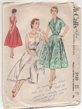 "1950's McCall's One Piece Button Up Summer Dress and Bolero - Bust 32"" - No. 3135"