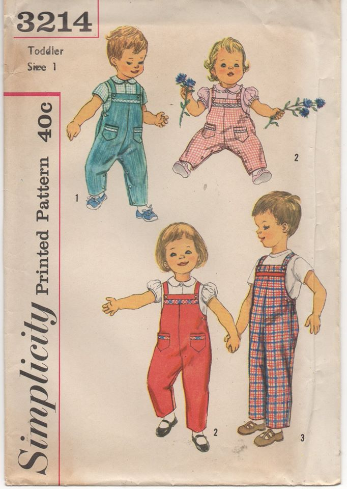 1950's Simplicity Child's Blouse and overalls - Chest 20