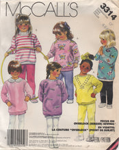 1980's McCall's Child's Sweatshirt, Dickey and Leggings - Size 4, 5, 6 - No. 3314