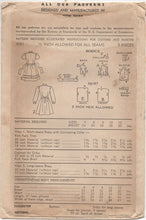 "1940's Advance Child's One Piece Shirtwaist Dress with Tie Back - Chest 23"" - No. 4081"