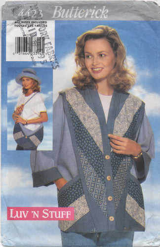 1990's Butterick Jacket, Hat and Purse Pattern - All Sizes - No. 4423