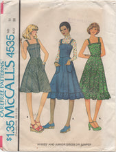 "1970's McCall's One Piece Dress or Jumper with pockets Pattern - Bust 38"" - no. 4535"