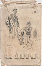 "1930's Butterick Smoking Jacket - Chest 38"" - No. 7007"
