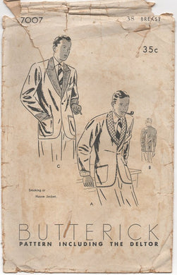 1930's Butterick Smoking Jacket - Chest 38