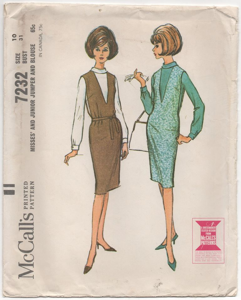 1960's McCall's One Piece Dress and Blouse - Bust 31