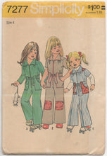 "1970's Simplicity Child's Jumpsuit with pockets - Breast 23"" - No. 7277"
