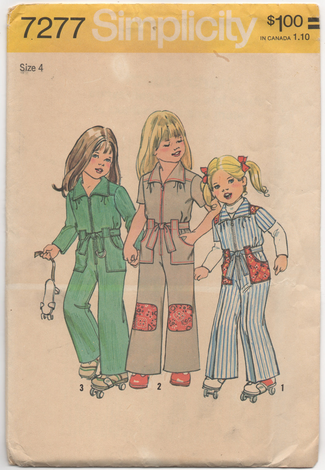 1970's Simplicity Child's Jumpsuit with pockets - Breast 23