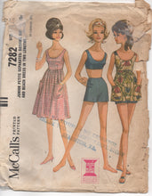 "1960's McCall's Two Piece Swimsuit and Beach Dress in Two Lengths - Bust 33-33.5"" - No. 7282"