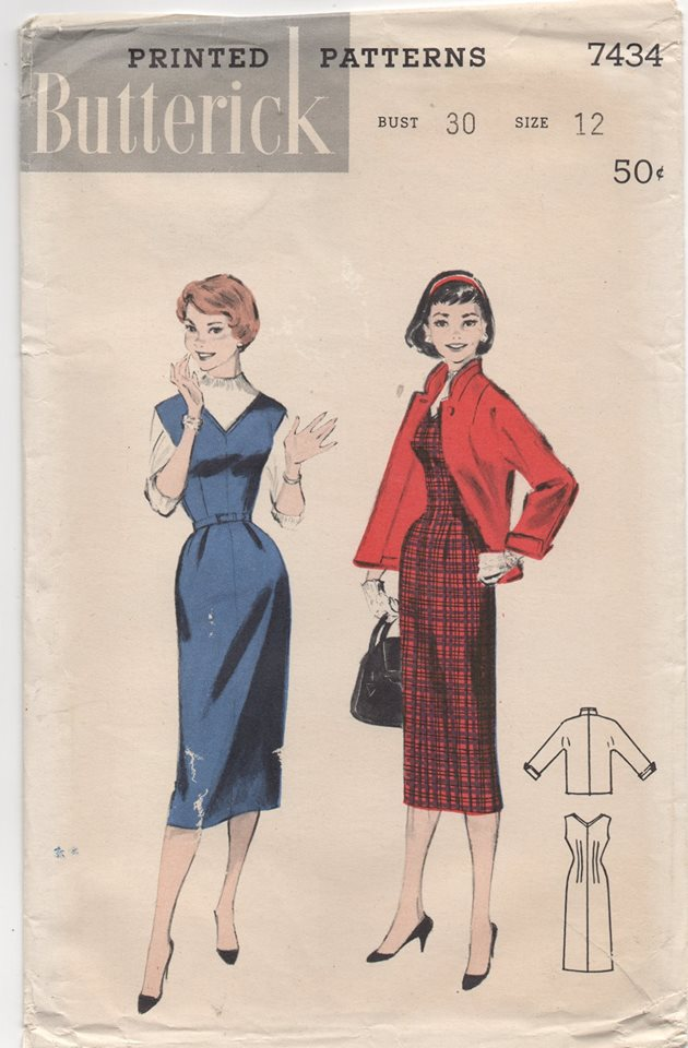 UC/FF - 1950's Butterick V-neck Jumper and Jacket - Bust 30
