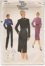 "1970's Vogue One Piece Dress, Blouse, Skirt or Pants - Bust 32.5"" - UC/FF - No. 7545"
