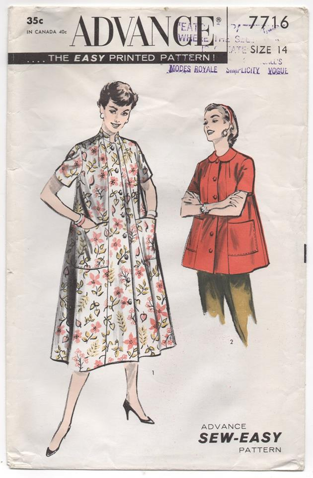 1950's Advance Long or Short Duster Coat - Bust 32