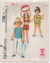 "1960's McCall's Child's Top and Shorts or Pants - Chest 21"" - No. 7793"