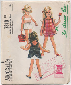 "1960's McCall's Girl's Playsuit - Breast 24"" - No. 7810"
