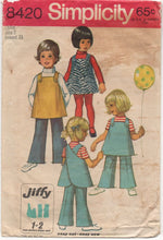 "1960's Simplicity Child's Wrap back Blouse and Pants - Chest 21"" - No. 8420"
