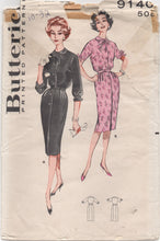 "1960's Butterick One Piece  Shirtwaist Dress Pattern - Bust 32"" - UC/FF - no. 9140"