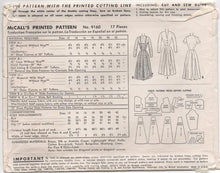 "1950's McCall's One Piece Dress with Camisole or Full Top and Scallops - Bust 36"" - No. 9160"