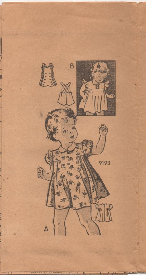 1940's Marian Martin Toddler Dress and Button Front Romper - Chest 22
