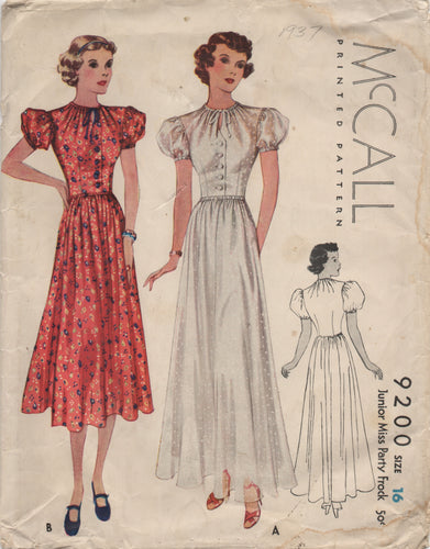 1930's McCall One Piece