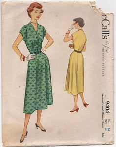 "1950's McCall's Shirtwaist Dress with Moulded shouders - Bust 34"" - UC/FF - No. 9404"